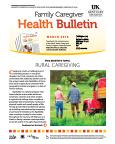 March 2016 Family Caregiver Health Bulletin