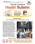 April 2016 Family Caregiver Health Bulletin