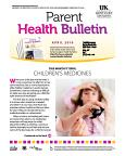 April 2016 Parent Health Bulletin