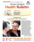 May 2016 Family Caregiver Health Bulletin