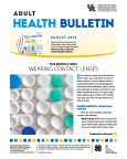 August 2016 Adult Health Bulletin
