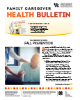September 2016 Family Caregiver Health Bulletin