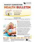 September 2018 Family Caregiver Health Bulletin
