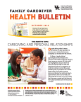 October 2016 Family Caregiver Health Bulletin