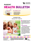 October 2016 Parent Health Bulletin