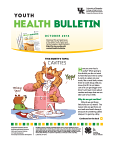 October 2016 Youth Health Bulletin