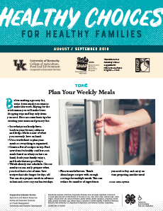 August / September 2018 Healthy Choices Newsletter English
