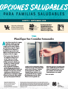 August / September 2018 Healthy Choices Newsletter Spanish