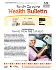 July 2014 Care Giver Health Bulletin