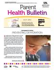 July 2014 Parent Health Bulletin