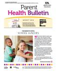 August 2014 Parent Health Bulletin