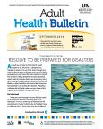 September 2014 Adult Health Bulletin