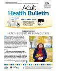 September 2015 Adult Health Bulletin