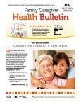 September 2015 Family Caregiver Health Bulletin