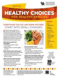 April / May 2017 Healthy Choices Newsletter