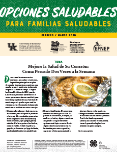 February / March 2019 Healthy Choices Newsletter Spanish