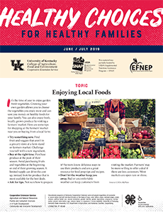 June / July 2019 Healthy Choices Newsletter English