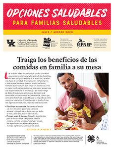 July / August 2020 Healthy Choices Newsletter Spanish