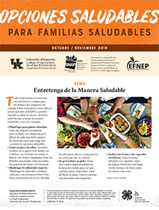 October / November 2018 Healthy Choices Newsletter Spanish