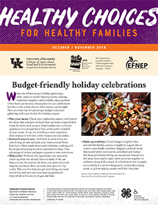 October / November 2019 Healthy Choices Newsletter English