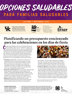 October / November 2019 Healthy Choices Newsletter Spanish