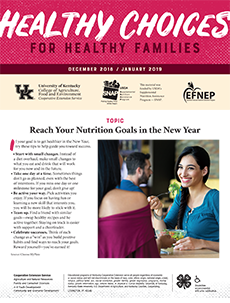 December 2018 / January 2019 Healthy Choices Newsletter English