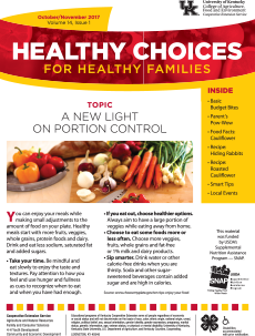 October/November 2017 Healthy Choices Newsletter